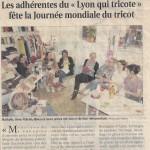 « Les adhérentes du Lyon qui Tricote… »