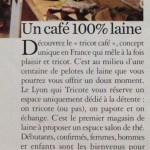 """""""Un café 100% laine"""" par Marie-Claire"""