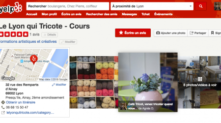 cours tricot couture lyon