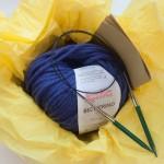kit tricot avec aiguilles à tricoter circulaires