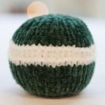 boules de noel tricot