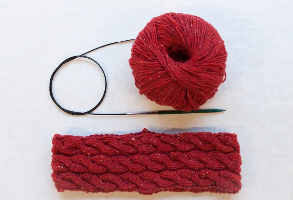 box pour tricoter un bandeau