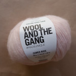 pelote rose poudré wool & the gang chez le lyon qui tricote