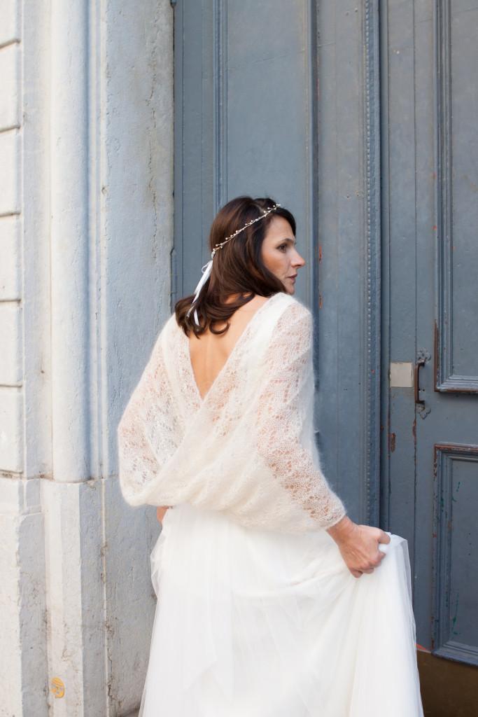 châle mariage tricoté par le lyon qui tricote à lyon