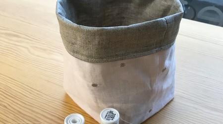 panier de rangement en tissu
