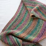 châle multicolore en laine Katia de chez Le Lyon qui Tricote