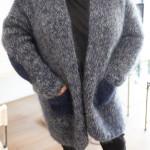 veste adulte tricotée à la main en mohair Le Lyon qui Tricote