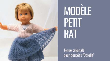 fiche tricot poupée danseuse agnès dominique